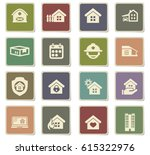 real estate vector icons for... | Shutterstock .eps vector #615322976