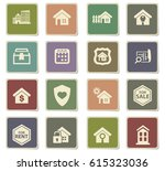 real estate vector icons for... | Shutterstock .eps vector #615323036