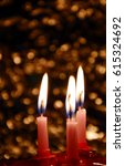 birthday cake with candles... | Shutterstock . vector #615324692