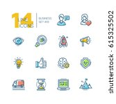 business   colored vector...   Shutterstock .eps vector #615325502