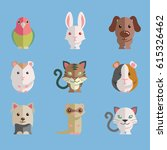cute and funny animal set...