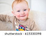 red haired boy with dermatitis | Shutterstock . vector #615330398