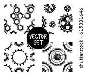 set of vector seamless patterns ... | Shutterstock .eps vector #615331646