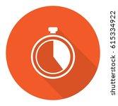 icon clock time stock vector... | Shutterstock .eps vector #615334922