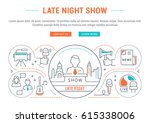flat line illustration of late...   Shutterstock .eps vector #615338006