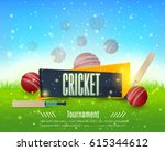 vector cricket poster event... | Shutterstock .eps vector #615344612