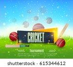 vector cricket poster event... | Shutterstock .eps vector #615344612