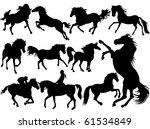 horses | Shutterstock .eps vector #61534849