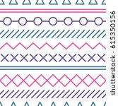 simple pattern with geometrical ... | Shutterstock .eps vector #615350156