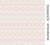simple pattern with geometrical ... | Shutterstock .eps vector #615350552