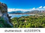 view of the bay of port de... | Shutterstock . vector #615355976
