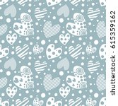 seamless pattern with hearts.... | Shutterstock . vector #615359162