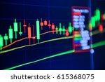 stock market chart stock market ...   Shutterstock . vector #615368075