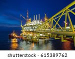 oil and gas central processing... | Shutterstock . vector #615389762