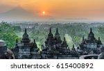sunrise panorama of mount... | Shutterstock . vector #615400892