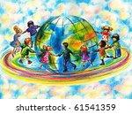 Children Of Different Races...