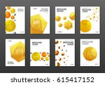 corporate brochure cover design ... | Shutterstock .eps vector #615417152