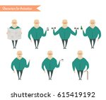 grandfather character for... | Shutterstock .eps vector #615419192