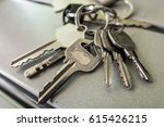 a bunch of key with key chain | Shutterstock . vector #615426215