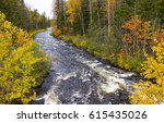 Forest River Autumn Landscape