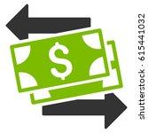 money exchange vector icon.... | Shutterstock .eps vector #615441032