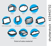 point of sales material and... | Shutterstock .eps vector #615443732