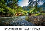 bamboo hut in the lake   Shutterstock . vector #615444425