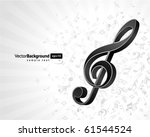 music background with notes.... | Shutterstock .eps vector #61544524