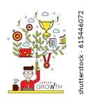 career growth vector... | Shutterstock .eps vector #615446072