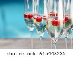 champagne glasses with...