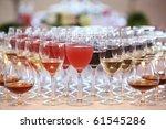 glasses of alcohol beverages | Shutterstock . vector #61545286
