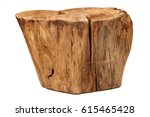 log isolated on a white... | Shutterstock . vector #615465428