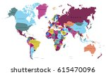 world map countries vector on... | Shutterstock .eps vector #615470096