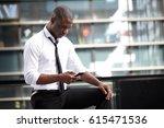 young african american... | Shutterstock . vector #615471536