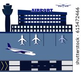 airport with runways | Shutterstock .eps vector #615472466