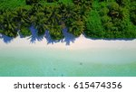 aerial view of tropical white... | Shutterstock . vector #615474356