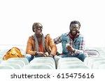 two black race friends having... | Shutterstock . vector #615475616
