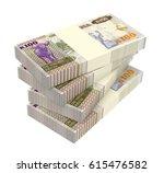 zambian kwacha bills isolated... | Shutterstock . vector #615476582