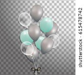 bunch of balloons isolated.... | Shutterstock .eps vector #615478742