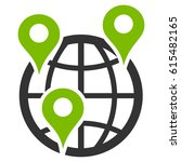 global company branches raster... | Shutterstock . vector #615482165