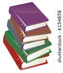 colour books isolated on white...   Shutterstock . vector #6154858
