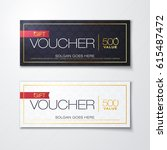 vector illustration  gift... | Shutterstock .eps vector #615487472