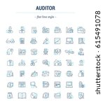 vector graphic set. icons in... | Shutterstock .eps vector #615491078
