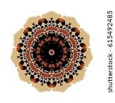oriental vector. round... | Shutterstock .eps vector #615492485