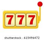 slot machine. jackpot   three 7.... | Shutterstock .eps vector #615496472
