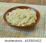 Stock photo harees middle eastern dish of boiled cracked or coarsely ground wheat mixed with meat 615501422
