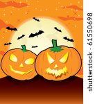 halloween night theme with | Shutterstock .eps vector #61550698