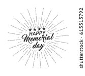 monochrome text happy memorial... | Shutterstock .eps vector #615515792