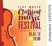 music concert poster for a... | Shutterstock .eps vector #615517376