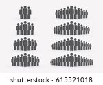people icon set in trendy flat... | Shutterstock .eps vector #615521018